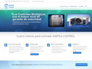 Diseño web de Frikitek para Asepsia Control